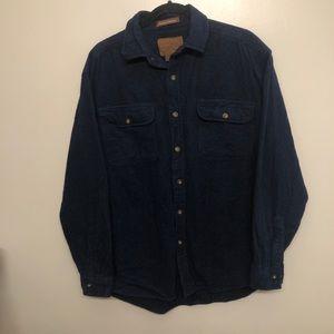 Mountainridge button down shirt blue large